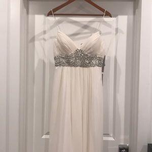Brand New JSgroup white floor length Dress